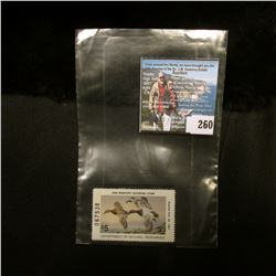 1990 No.19 Iowa Migratory Waterfowl Stamp State Conservation Commission, Mint condition, Unsigned, V