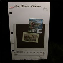 1993 No.22 Iowa Migratory Waterfowl Stamp State Conservation Commission, Mint condition, Unsigned, V