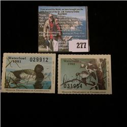 1981 & 1982 Missouri Department of Conservation Waterfowl Stamp, both signed by the original owner o