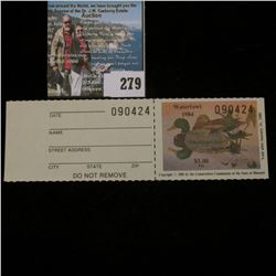 1984 No. 6a Missouri Department of Conservation Waterfowl Stamp, unsigned, NH, Very Fine. Complete w