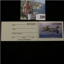 1987 No. 9a Missouri Department of Conservation Waterfowl Stamp, unsigned, NH, Very Fine. Complete w