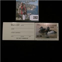 1989 No. 11a Missouri Department of Conservation Waterfowl Stamp, unsigned, NH, Very Fine. Complete