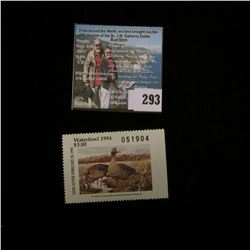 1994 No.16 Missouri Department of Conservation Waterfowl Stamp, unsigned, NH, Very Fine.