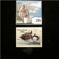 1986 No. 8 Missouri Department of Conservation Waterfowl Stamp, unsigned, NH, Very Fine.
