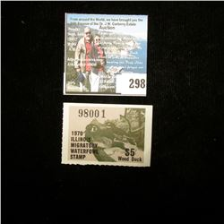 1976 Illinois Migratory Waterfowl $5 Stamp, Mint, unused.
