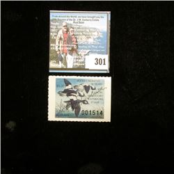 1986 Illinois Migratory Waterfowl $5 Stamp, Signed, VF.