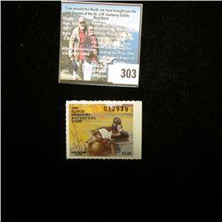 1989 Illinois Migratory Waterfowl $5 Stamp, Mint, unused.
