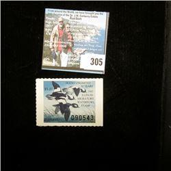 1987 Illinois Migratory Waterfowl $5 Stamp, Mint, unused. IL13.
