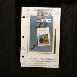 1994 $10 Marine Conservation and Safety U.S.A. Ten Dollars  Diamond Reef  Stamp labeled  Sample  and