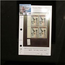 1962 RW29 U.S. Department of the Interior Migratory Bird Hunting Four-stamp Plateblock No. 168073, V