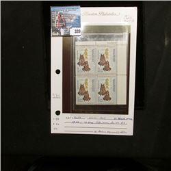 1960 RW27 U.S. Department of the Interior Migratory Bird Hunting Four-stamp Plateblock No. 167503, V