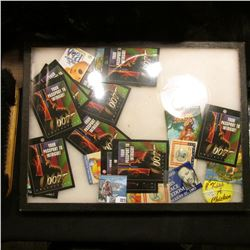 """Group of (11) """"Your Passport to Intrique! OO7 Collection"""" Cards; & a pair of General Mac Arthur Pin-"""