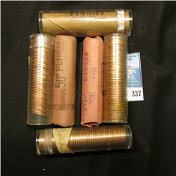 1959P BU, (2) 1959 D BU, 1962D BU, 1964D BU, & 1970 D & S (partial Roll) Solid Date Rolls of BU Linc