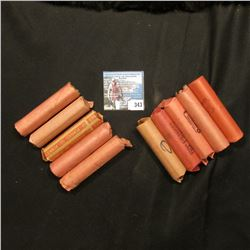 (10) Rolls of what I believe are all Old Wheat Cents, I never had time to check for dates, so the di