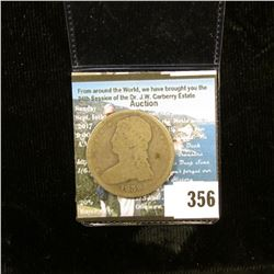 1838 Capped Bust Half-Dollar, VG.
