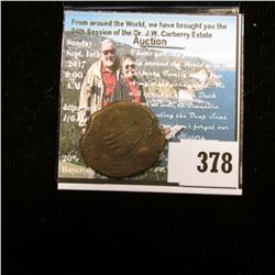 Unattributed Ancient Bronze Coin, most likely Greek.