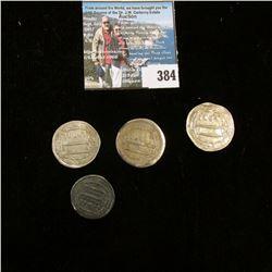 1908 O, 1912 D, 1912 S, & 1914 S U.S. Barber Half Dollars, Average Good.