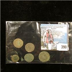Group of (4) Ancient Roman Copper AE, Centionalis, or Antoninianus size coins including a piece depi