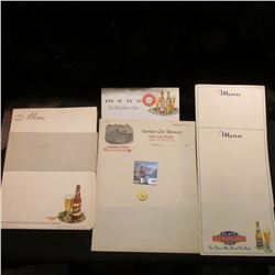 Over 20 pieces of Breweriana including Menus, Stationery and etc. dating back more than fifty years;