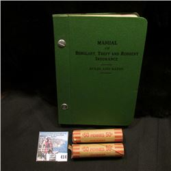 """""""Manual of Burglary, Theft and Robbery Insurance Rules and Rates"""" 1931 Edition; as well as a pair of"""