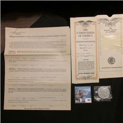 """June, 1927 Policy from the """"United StatesVeterans Bureau Washington, D.C."""" very ornate with various"""