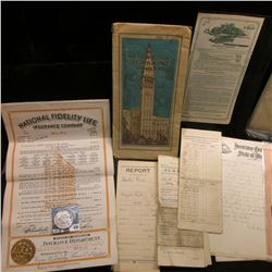 More than 40 pieces of Insurance Memorabilia dating back to the early 1900s & 1922 D U.S. Peace Silv