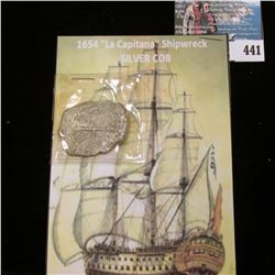 """1654 """"La Capitana"""" Ship wreck 8 Reales Silver Cob. This interesting Silver coin spent nearly 400 yea"""