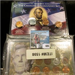 """""""9 Decades of Pennies"""" Lincoln Cent Set in plastic case; & """"Celebrating the 100th Anniversary The Ch"""