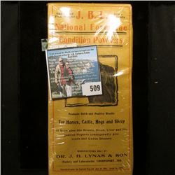 Antique Box  One Pound Full Weight J.B.L. Price 25 Centa National Formula Condition Powder…Dr. J.B.