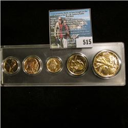 Snap tight holder containing 1950 D, 1936 P, 1942 D, 1999 P Delaware Statehood Quarter, & 1942 P Wal