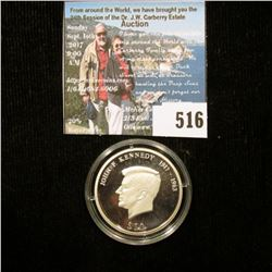 2000 Republic of Liberia $10 .999 fine Silver Proof Commemorative of John F. Kennedy. Mintage of 20,