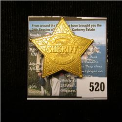 "American Mint ""Badges of the Legendary Lawmen Sheriff of Lincoln County Miniature"" with Certificate"
