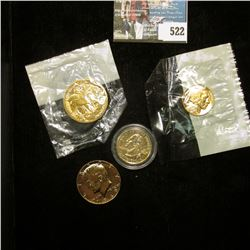 Indian Cent, Buffalo Nickel, Walking Liberty Half-Dollar, & 1969 D 40% Silver Kennedy Half Dollar. A