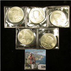 (5) $10 Commemorative John F. Kennedy 1960-1999 Republic of Liberia Coins, All BU. ($50 face value)