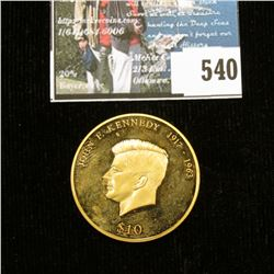 "2001 Republic of Liberia $10 John F. Kennedy 1917-1963"" U.S. Presidential Commemorative."