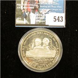 2001 Liberia $5 Brig Gen. G.T. Bouregard, Fort Sumter 1861  & Maj. R. Anderson.