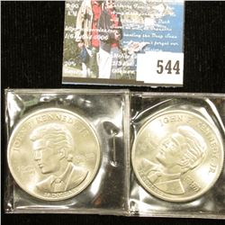 (2) 2000 Liberia $10 John F. Kennedy Jr. Coins.
