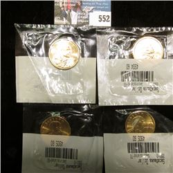 2001 P & (3) 2001 D Susan B. Anthony Dollar Coins in Gem BU Condition, all stored in Littleton's hol