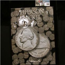 1938-61 Jefferson Nickel Set in a original Harris Coin folder. Complete with 1950 D and all the Silv