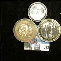 """""""Apollo XI July 16, 1969"""" .999 Fine Silver Medal, encapsulated; """"Brady's Civil War"""" Commemorative Co"""