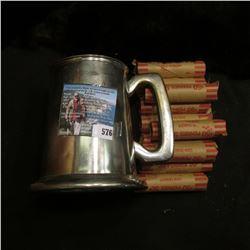 """English Pewter/Raimond-Vinbrs of Sheffield/Made in England"" Mug with glass bottom; & (10) Rolls of"