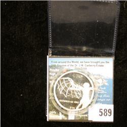 ".999 Fine Silver Proof Medal ""Leonardo Da Vinci"", encased."