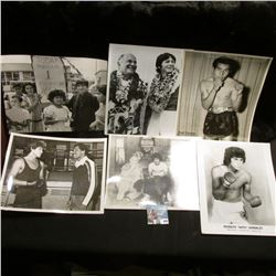 """(25) Different Black & White 8"""" x 10"""" Photos of some of Boxings Greats."""
