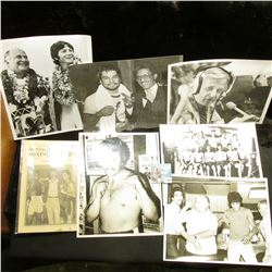 (25) Pieces of Boxing Memorabilia including 8  x 10  Black & White Photos.