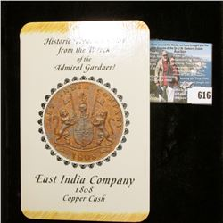 """""""Historic Treasure Coin from the Wreck of the Admiral Gardner! East India Company 1808 Copper Cash"""","""