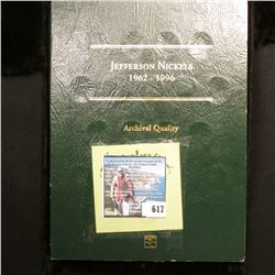 1962-1996 Jefferson Nickels Set in an Archival Quality Littleton Coin folder, Missing 1962 P & 70 D