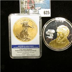 """""""The 12 Apostles"""", """"John"""", Copper-silver plated Spot Gold, 54g, Issued 2007, Proof, 50 mm. Depicts J"""
