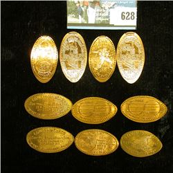 Group of (10) Elongated Lincoln Cents.