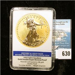 """Slabbed """"Historical Gold Eagle Reverse Proof Archival Collection 1933 Saint-Gaudens Gold Double Eagl"""