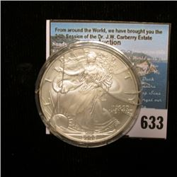 2005 U.S. American Silver Dollar One Ounce .999 Fine Silver. Brilliant Uncirculated. Case is cracked